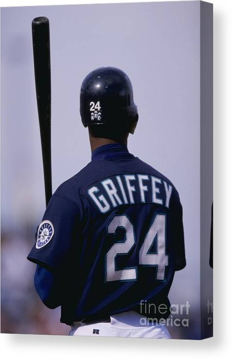 Peoria Sports Complex Canvas Print featuring the photograph Ken Griffey Jr by Brian Bahr