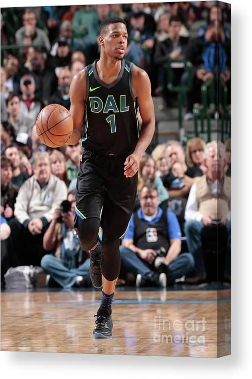 Nba Pro Basketball Canvas Print featuring the photograph Miami Heat V Dallas Mavericks by Glenn James