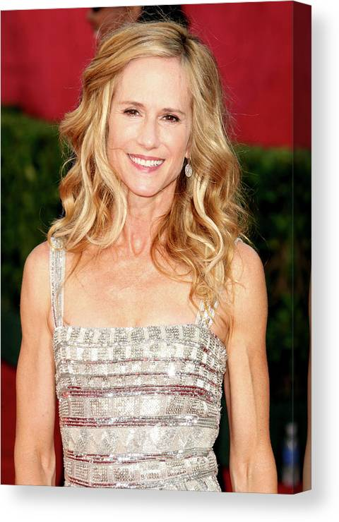 Holly Hunter Canvas Print featuring the photograph 61st Annual Primetime Emmy Awards - by Jason Merritt