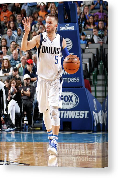 Nba Pro Basketball Canvas Print featuring the photograph Milwaukee Bucks V Dallas Mavericks by Danny Bollinger