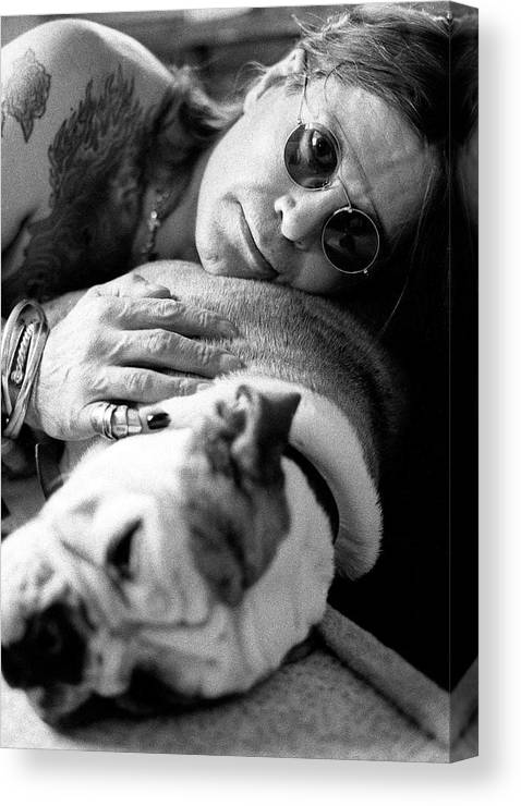Music Canvas Print featuring the photograph Ozzy Osbourne by Martyn Goodacre