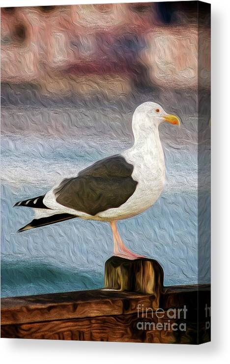 Animal Canvas Print featuring the digital art A Bird's Eye View by Kenneth Montgomery