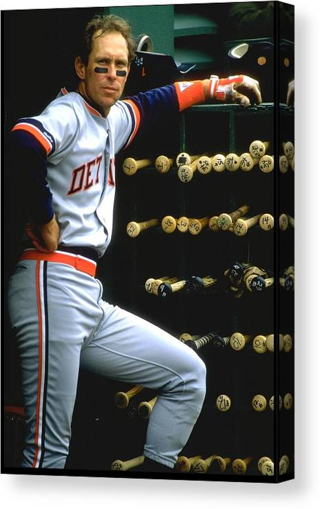 1980-1989 Canvas Print featuring the photograph Alan Trammell Tigers by Otto Greule Jr