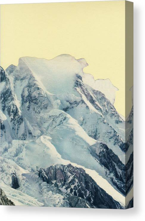 Mountains Canvas Print featuring the mixed media Avalanche by Cassia Beck