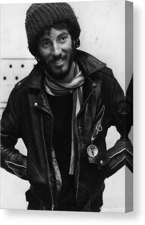 Bruce Springsteen Canvas Print featuring the photograph Bruce Springsteen by Monty Fresco