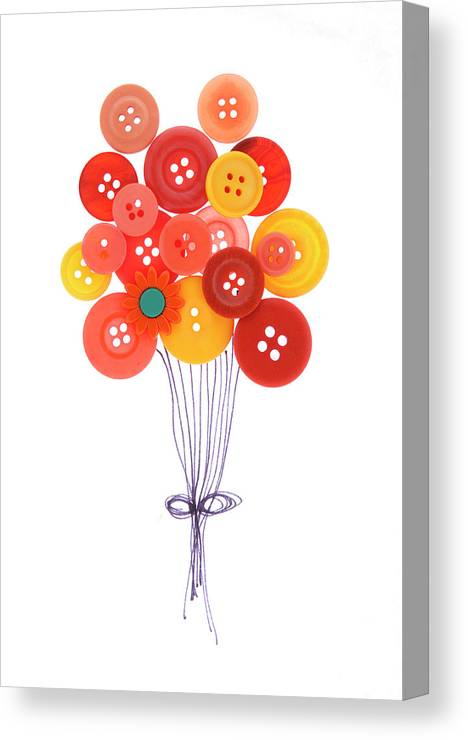Brampton Canvas Print featuring the photograph Buttons As Balloons by Lisa Stokes