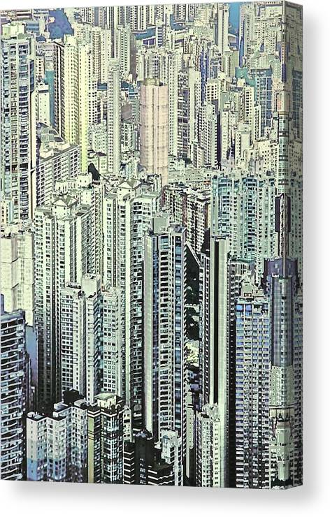 City Canvas Print featuring the photograph City by Gillis Cone