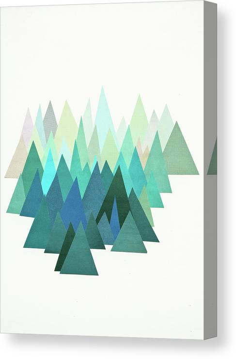 Mountains Canvas Print featuring the mixed media Cold Mountain by Cassia Beck