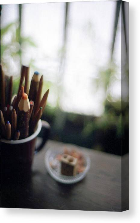 Osaka Prefecture Canvas Print featuring the photograph Color Pencils by K-ko