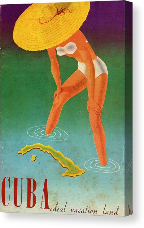 Recreational Pursuit Canvas Print featuring the photograph Cuba, Ideal Vacation Land by Jim Heimann Collection