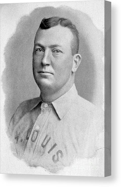 People Canvas Print featuring the photograph Cy Young St. Louis 1899 by Transcendental Graphics