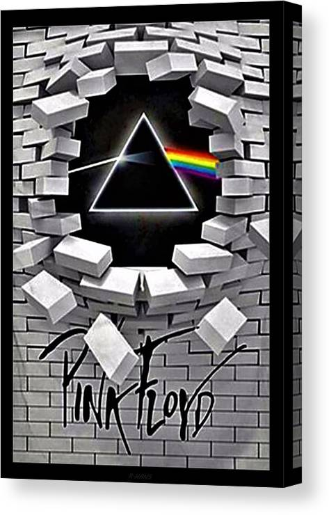 Pink Floyd Canvas Print featuring the photograph Dark Side Of The Wall by Rob Hans