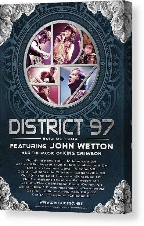 Canvas Print featuring the digital art District 97/John Wetton US Tour by District 97