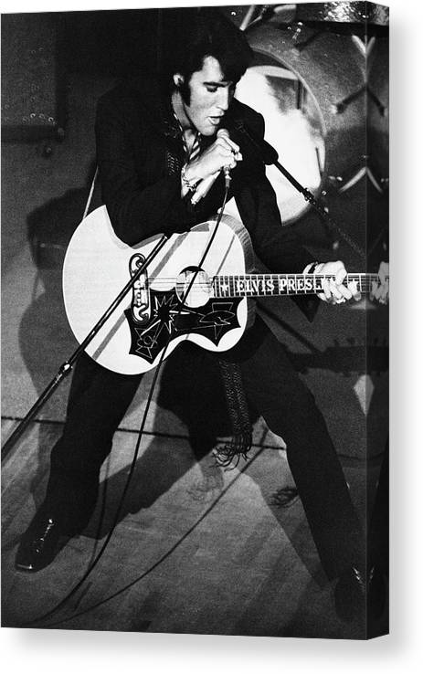 Elvis Presley Canvas Print featuring the photograph Elvis In Vegas by Archive Photos