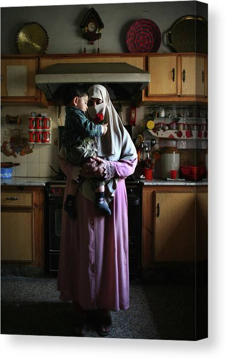 Son Canvas Print featuring the photograph Families Of Disappeared Await News Of by John Moore