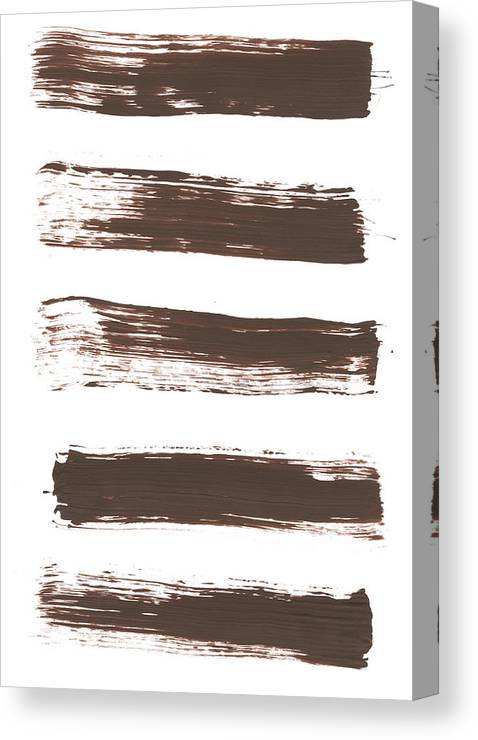 Textured Canvas Print featuring the photograph Five Tan Streaks Of Paint by Kevinruss