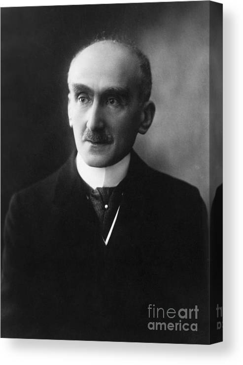 Mature Adult Canvas Print featuring the photograph French Philosopher Henri-louis Bergson by Bettmann