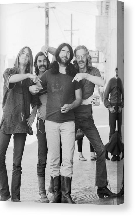 Event Canvas Print featuring the photograph Grateful Dead Portrait Session In Sf by Michael Ochs Archives