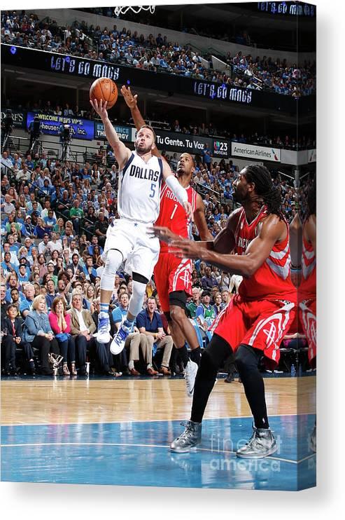 Nba Pro Basketball Canvas Print featuring the photograph Houston Rockets V Dallas Mavericks by Danny Bollinger