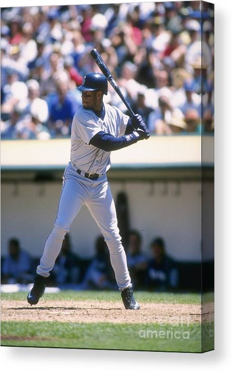People Canvas Print featuring the photograph Ken Griffey Jr. Mariners by Otto Greule Jr
