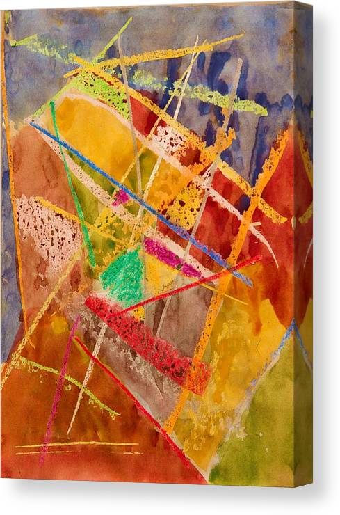 Modern Canvas Print featuring the painting Line by ArtMarketJapan