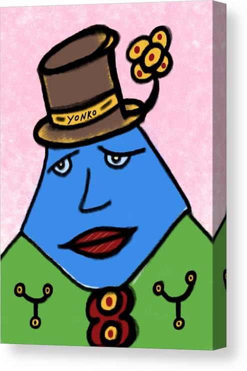 New York Times Canvas Print featuring the painting Mr. Yonko Thirty Seven by Yonko Kuchera
