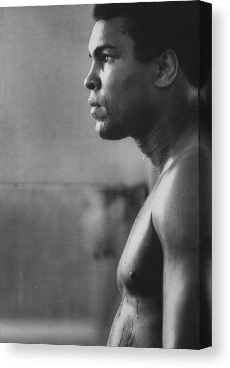 Joe Frazier Canvas Print featuring the photograph Muhammad Ali by John Shearer