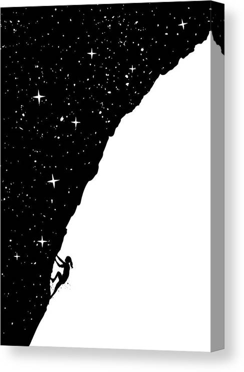 Night Canvas Print featuring the mixed media Night climbing by Balazs Solti