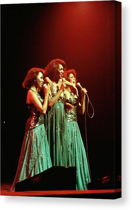 Mary Wilson Canvas Print featuring the photograph Photo Of Supremes And Susaye Greene And by Keith Bernstein