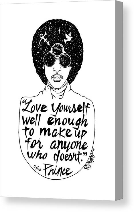 Pen And Ink Illustration Canvas Print featuring the drawing Prince Drawing by Rick Frausto
