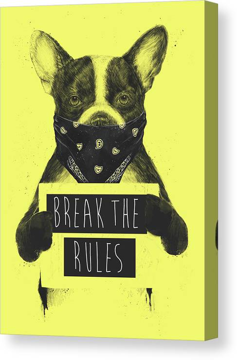 Dog Canvas Print featuring the mixed media Rebel dog II by Balazs Solti