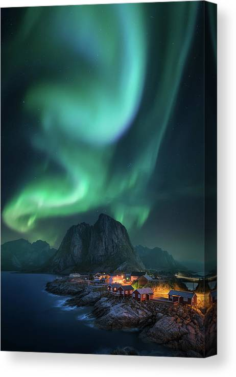 Lofoten Canvas Print featuring the photograph Rise Up by Carlos F. Turienzo
