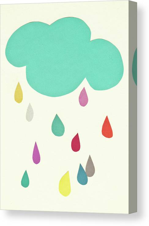 Clouds Canvas Print featuring the mixed media Sunshine and Showers by Cassia Beck