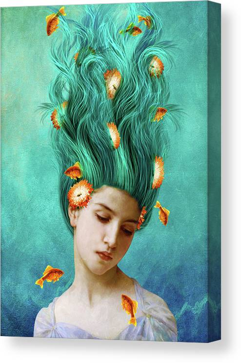Sweet Allure Canvas Print featuring the mixed media Sweet Allure by Diogo Ver?ssimo