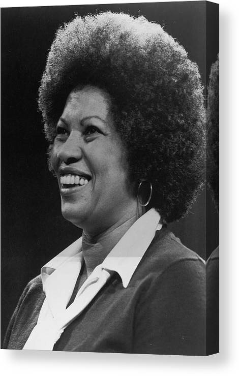 Toni Morrison Canvas Print featuring the photograph Toni Morrison by Archive Photos