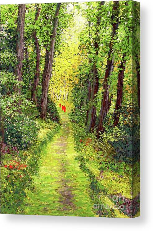 Meditation Canvas Print featuring the painting Walking Meditation by Jane Small