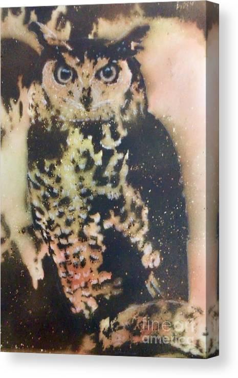 Gunpowder Canvas Print featuring the pyrography Who? by Brandi Pfleider