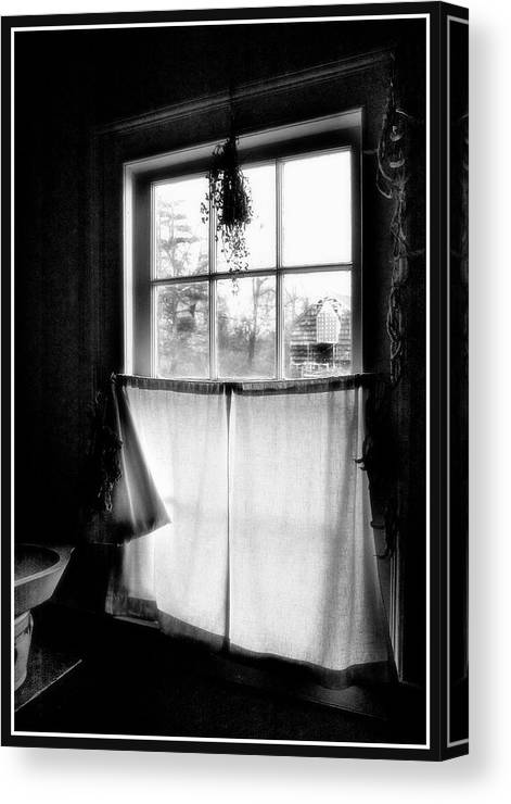 A Kitchen Window Canvas Print featuring the photograph Window Lighting #2 by Harold Silverman - Buildings & Cityscapes
