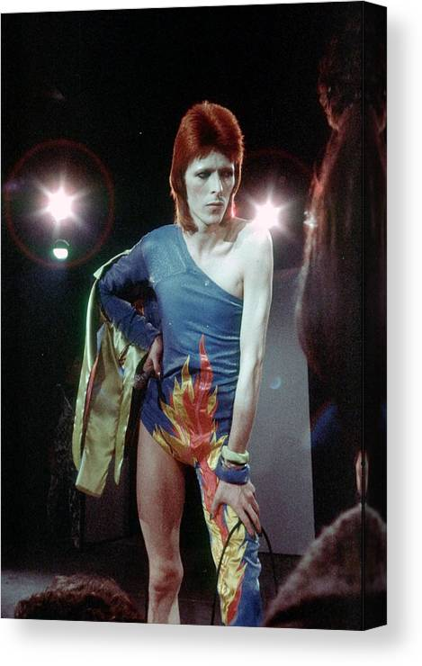 Ziggy Stardust - Persona Canvas Print featuring the photograph Ziggy Stardust Era Bowie by Michael Ochs Archives