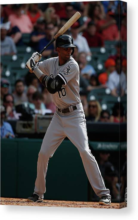 American League Baseball Canvas Print featuring the photograph Alexei Ramirez by Scott Halleran