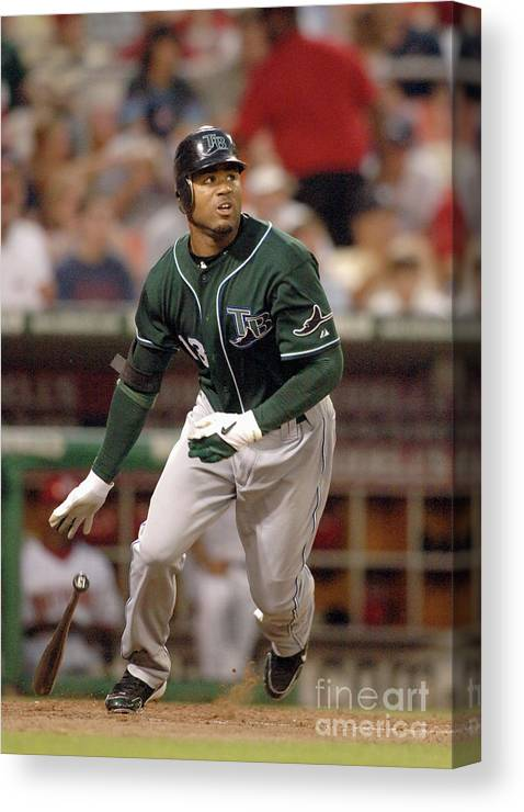 American League Baseball Canvas Print featuring the photograph Carl Ray by Mitchell Layton