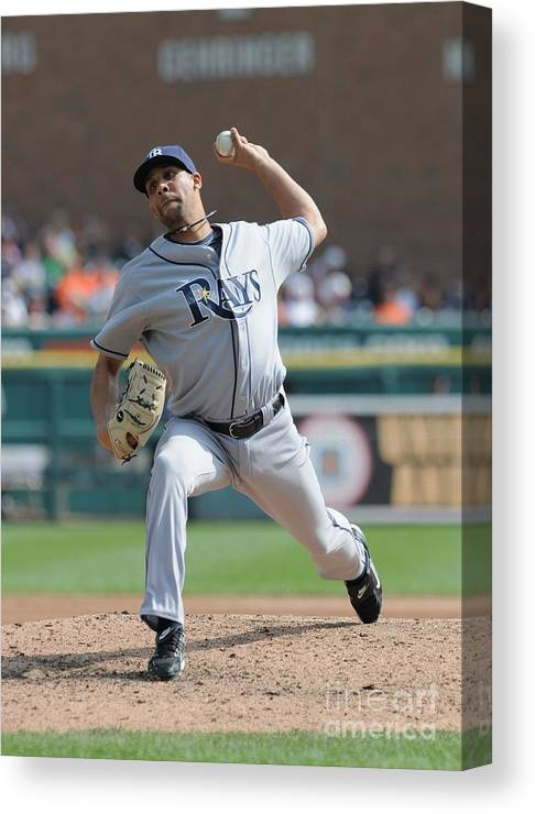 David Price Canvas Print featuring the photograph David Price by Mark Cunningham