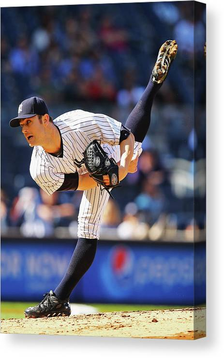 Ninth Inning Canvas Print featuring the photograph David Robertson by Al Bello