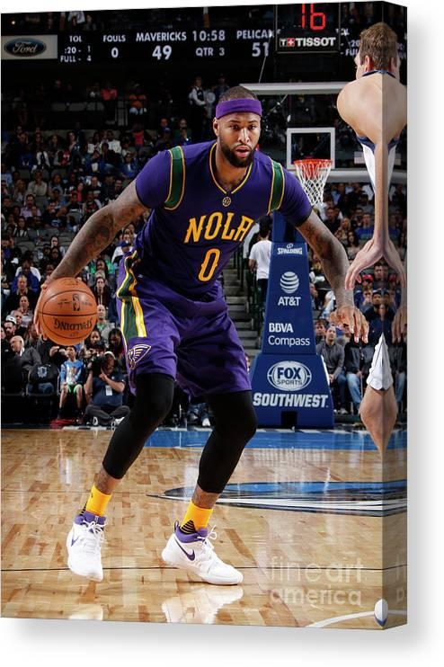 Nba Pro Basketball Canvas Print featuring the photograph Demarcus Cousins by Glenn James