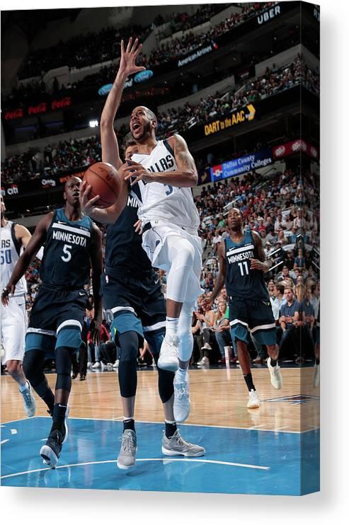 Nba Pro Basketball Canvas Print featuring the photograph Devin Harris by Glenn James