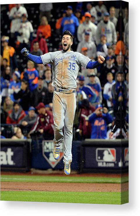 Playoffs Canvas Print featuring the photograph Eric Hosmer by Ron Vesely