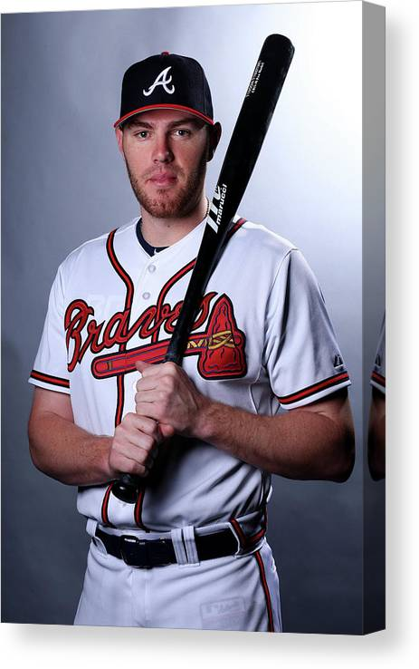 People Canvas Print featuring the photograph Freddie Freeman by Elsa