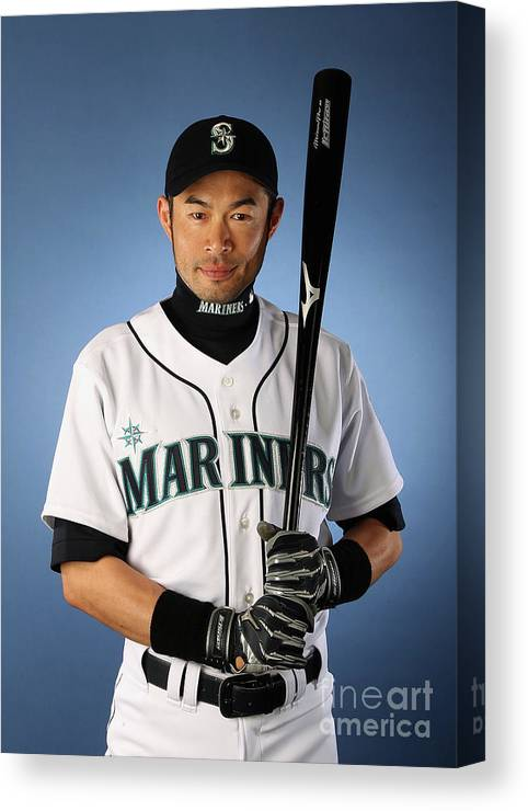 Media Day Canvas Print featuring the photograph Ichiro Suzuki by Christian Petersen