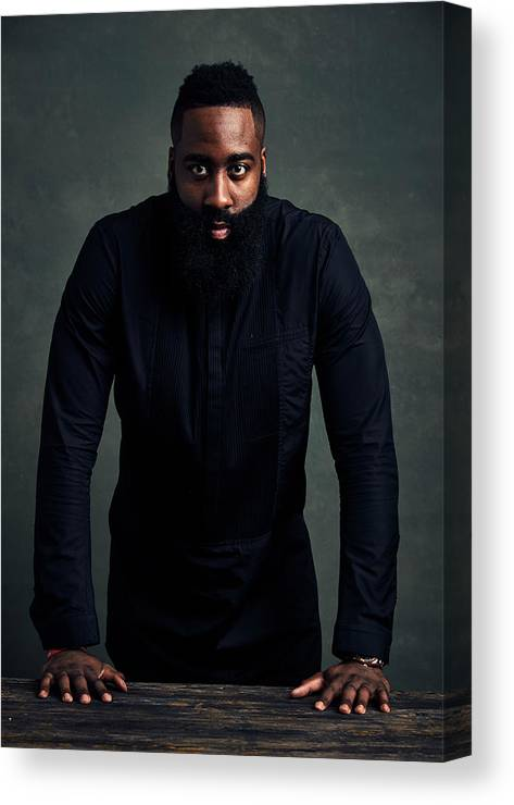 Event Canvas Print featuring the photograph James Harden by Jennifer Pottheiser