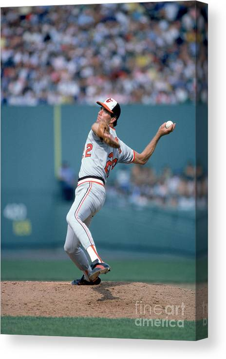 1980-1989 Canvas Print featuring the photograph Jim York by Rich Pilling